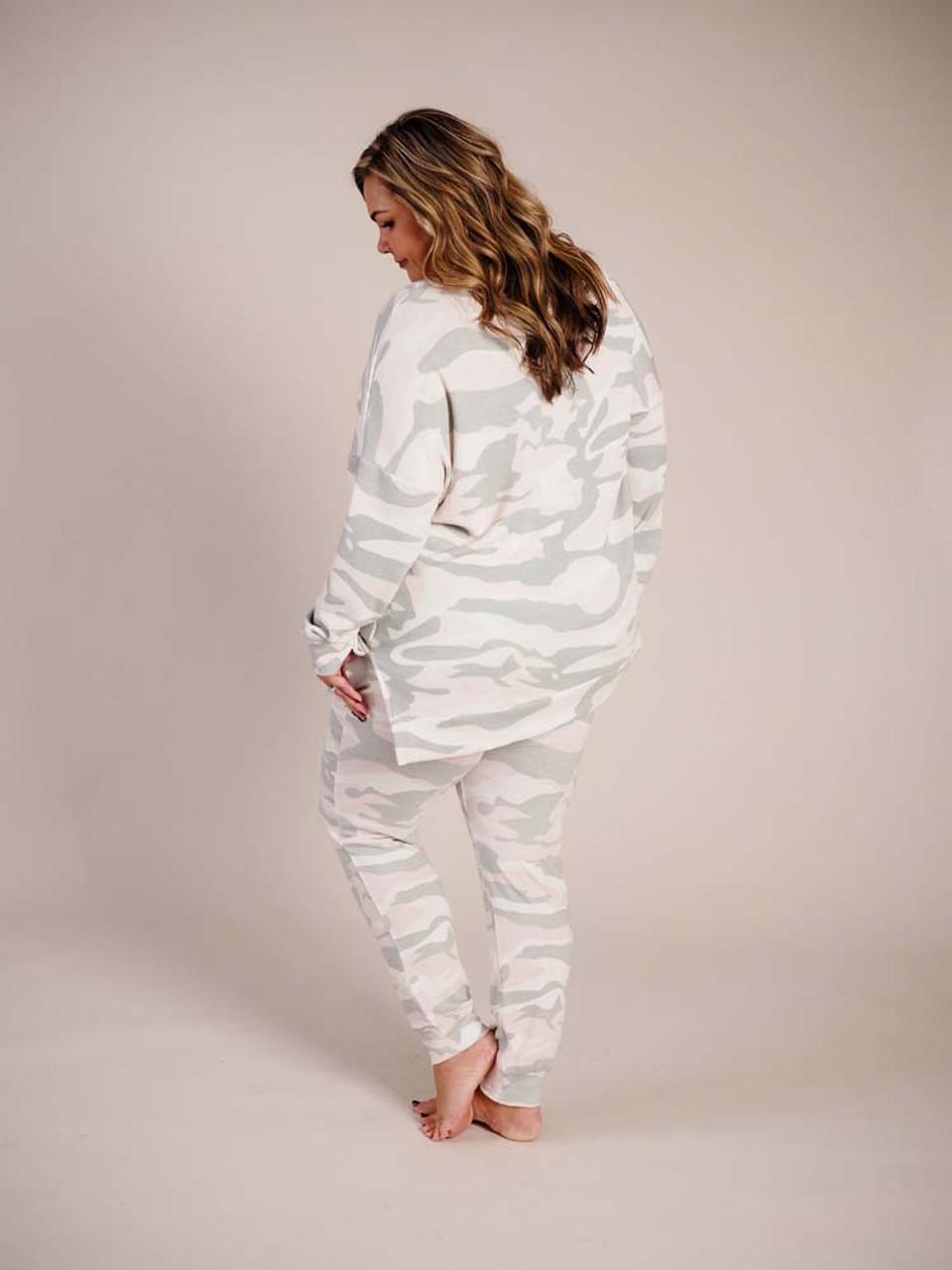 fleece camouflage sweatshirt
