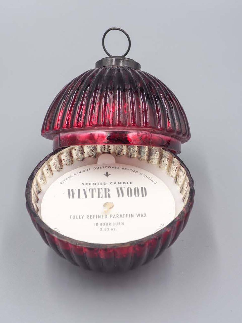 Winter Wood Red 3.5 Inch Ornament Candle