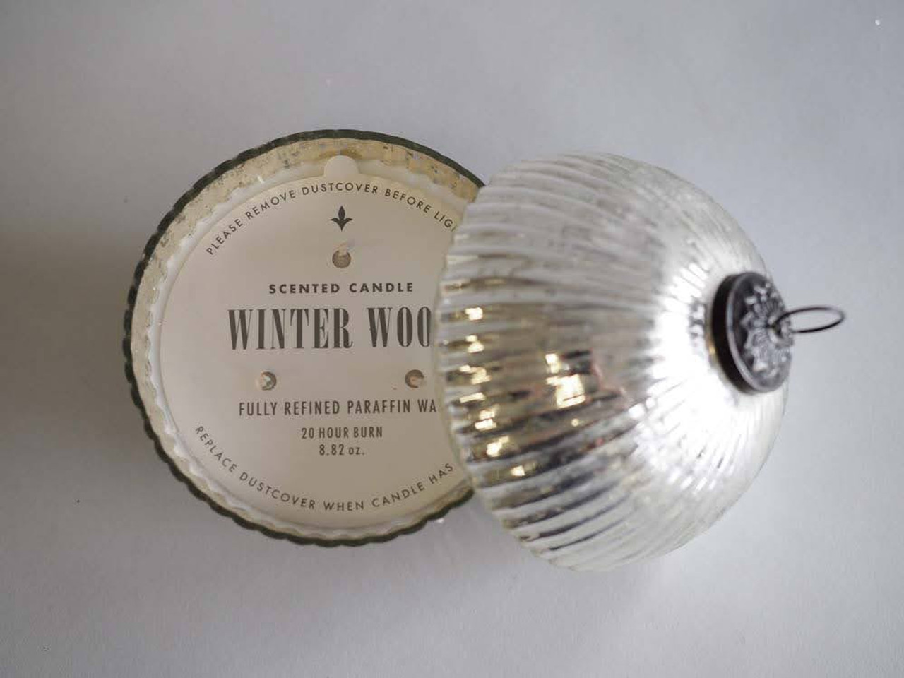 Winter Wood Silver 3.5 Inch Ornament Candle