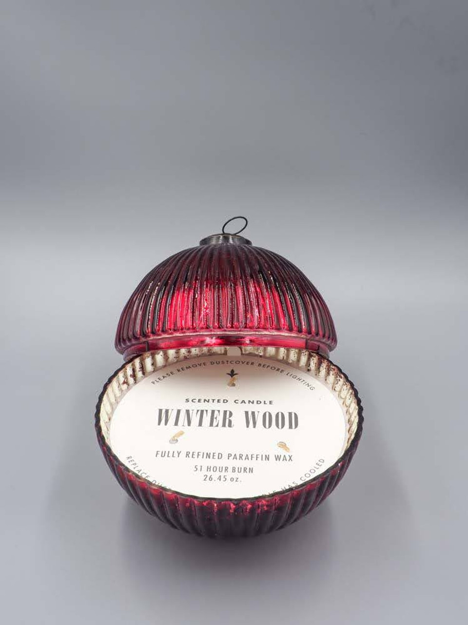 Winter Wood Red 7 Inch Ornament Candle