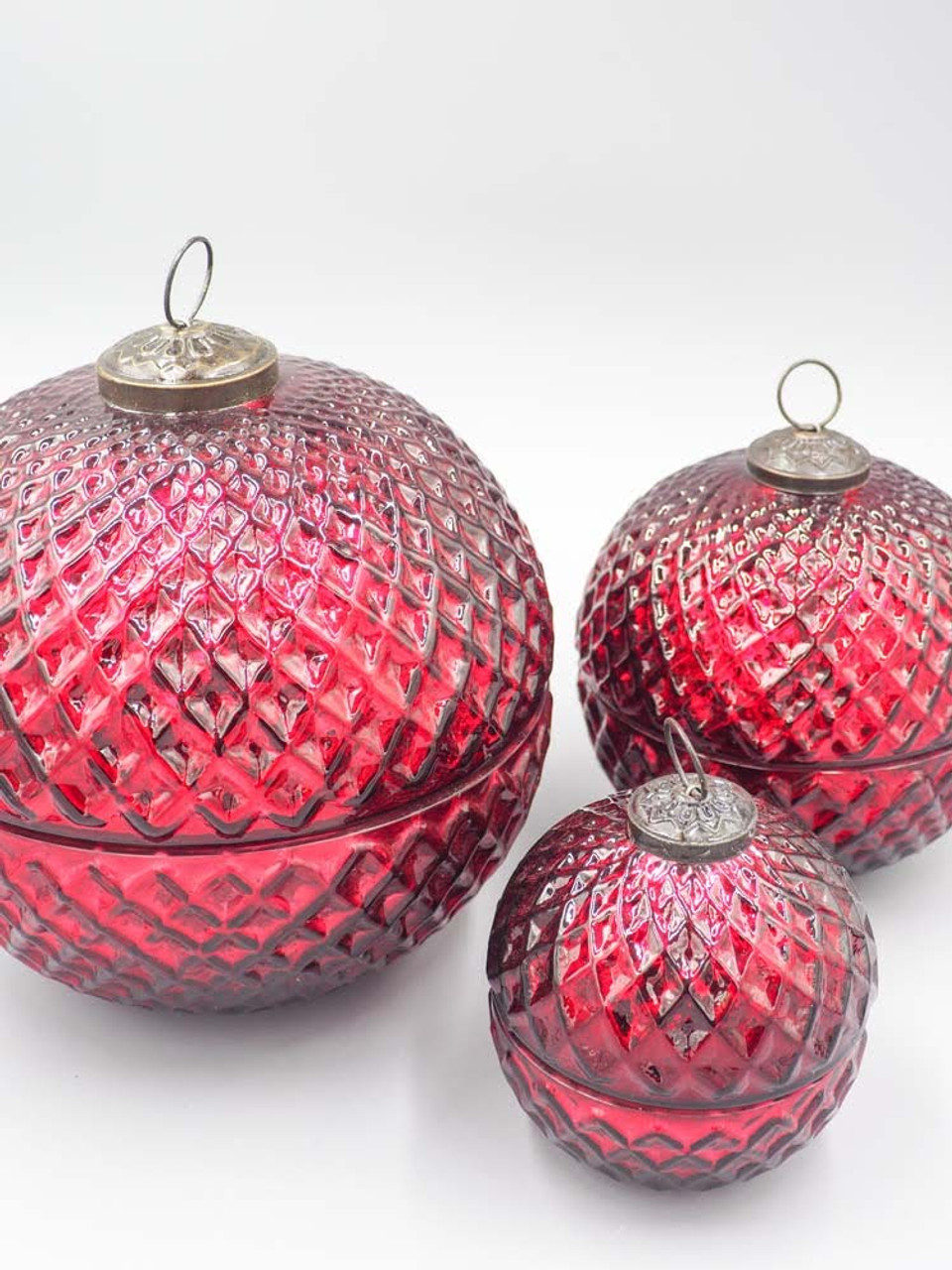 Cranberry Spice Red 3.5 Inch Ornament Candle