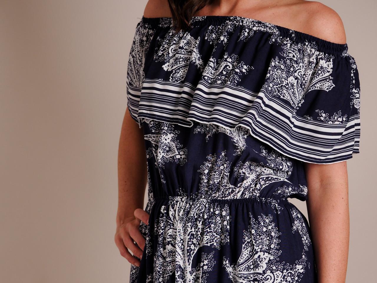 Stripe Border Dress