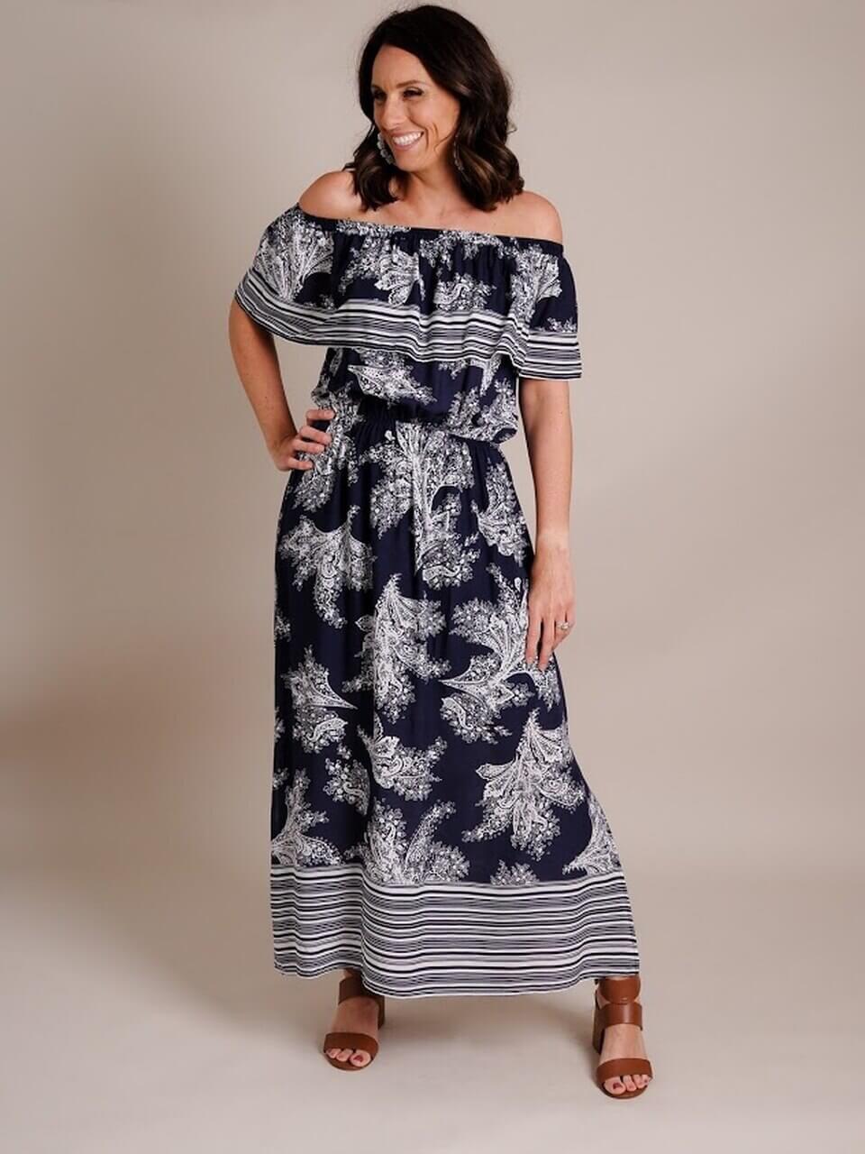 miller st. boutique Stripe Border Dress