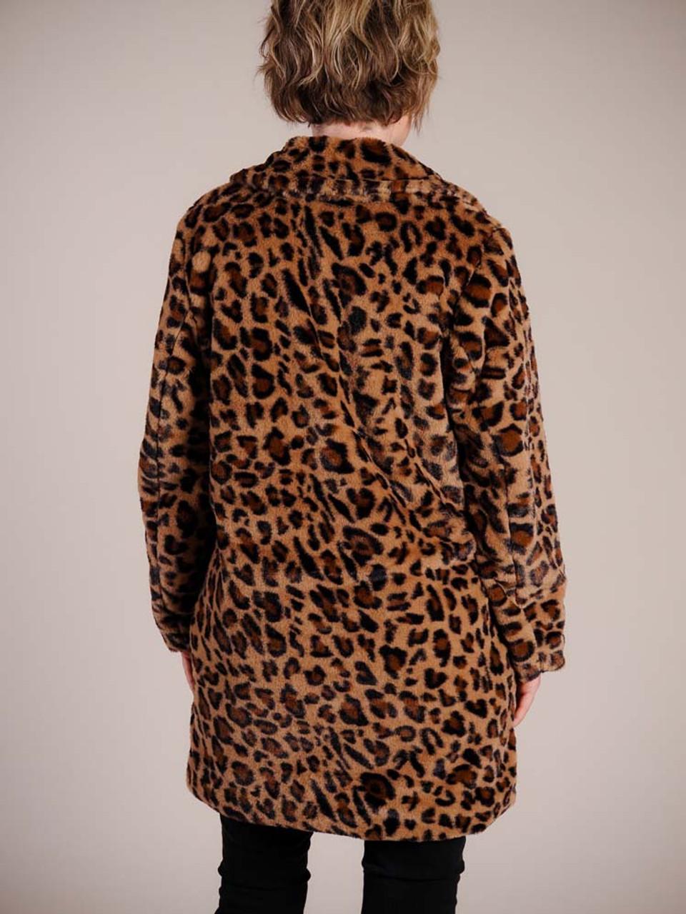 leopard print jacket faux fur