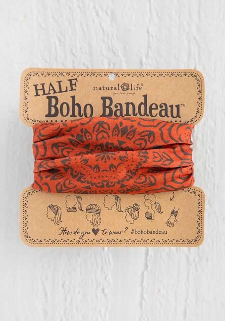 Rust Mandala Half Boho Bandeau