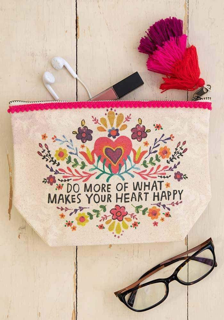 Do More of What Makes Your Heart Happy Canvas Pouch