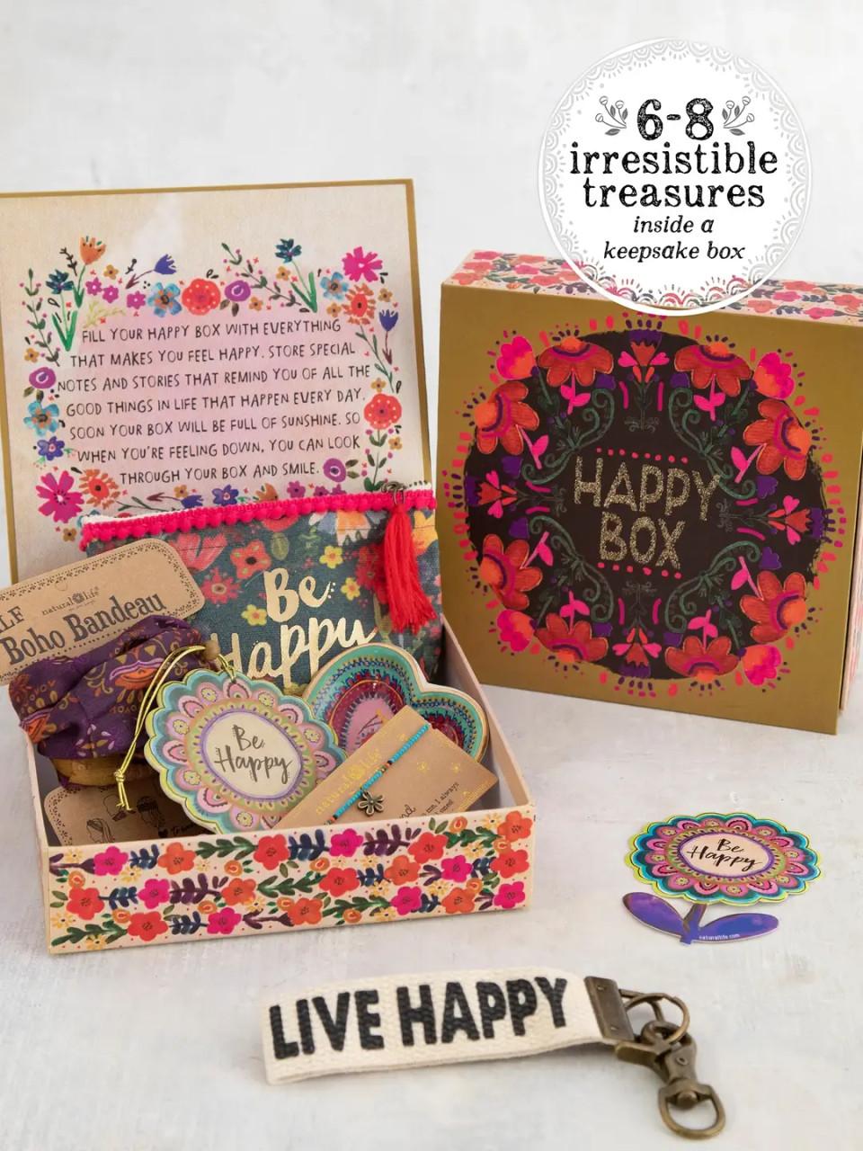 Mustard Floral Happy Box