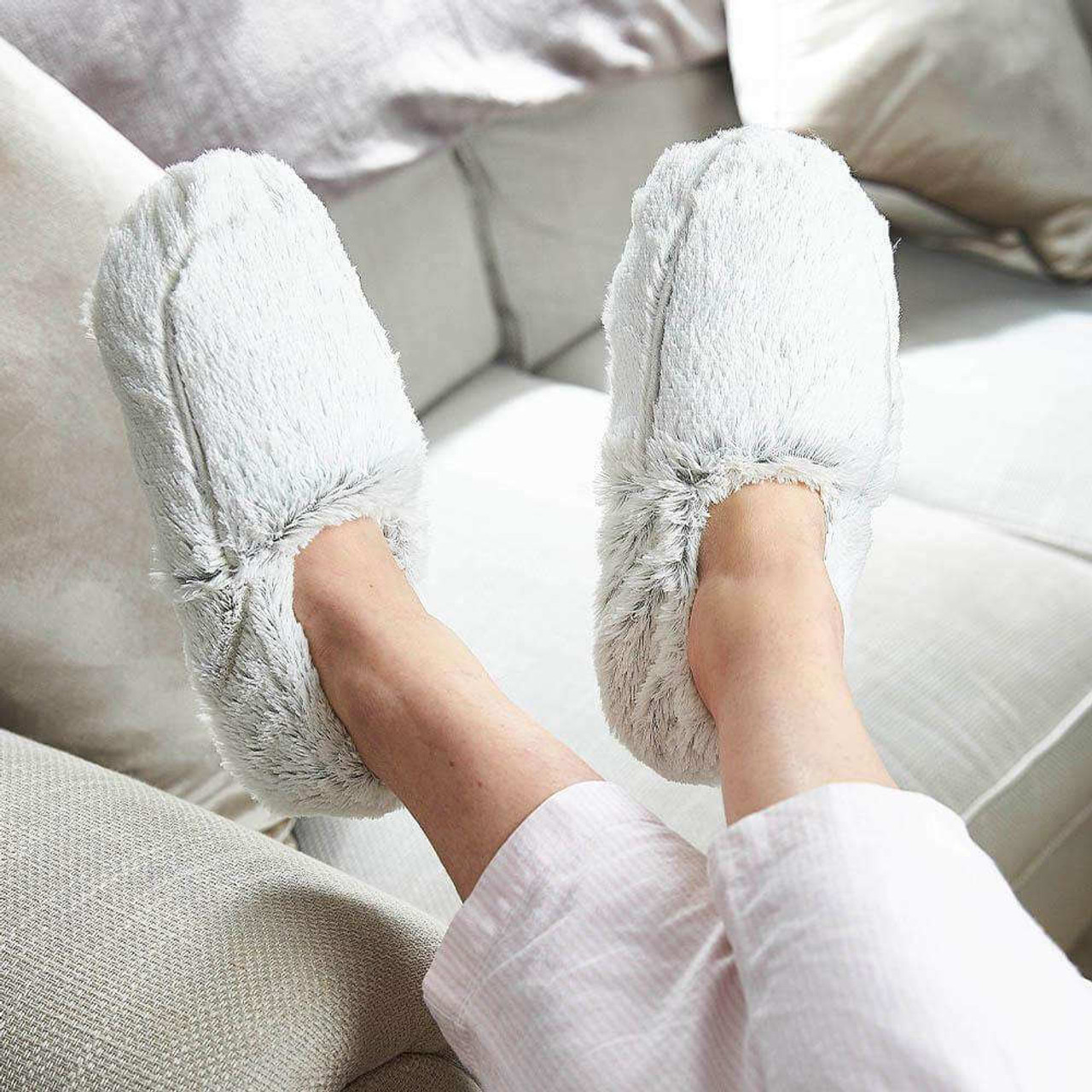 Slippers in Marshmallow Gray