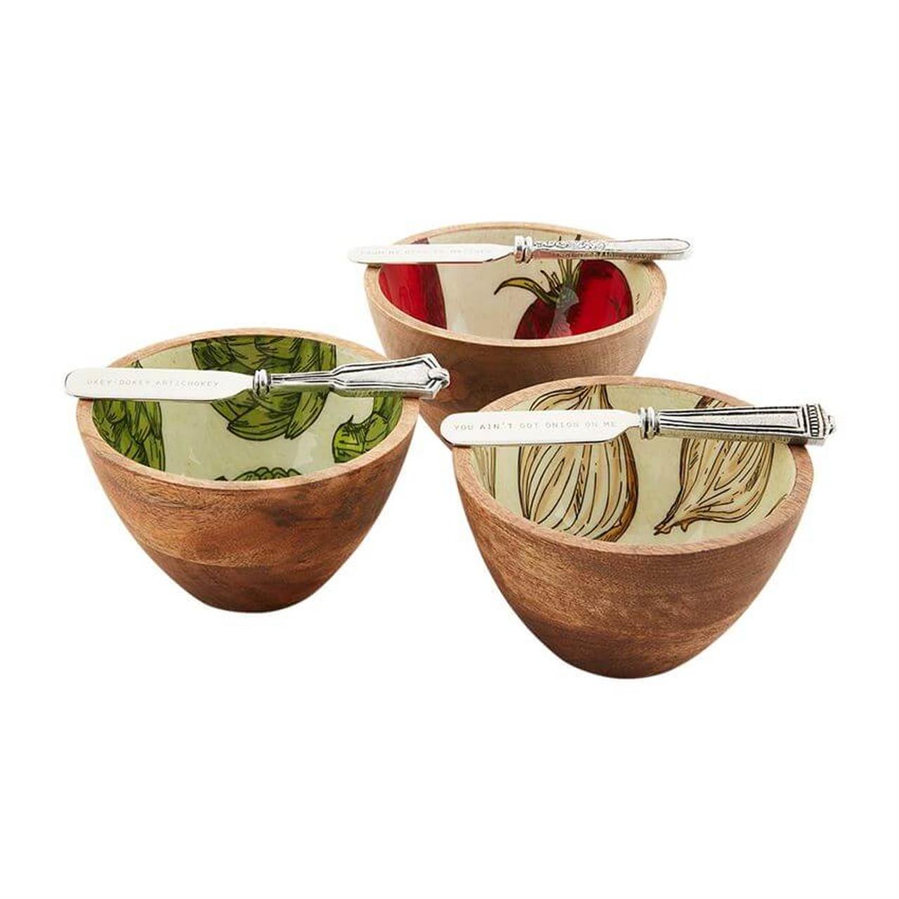 Artichoke Enamel Dip Bowl Set