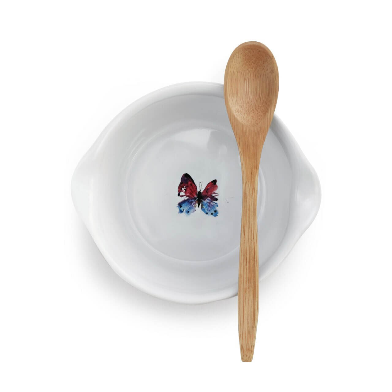 Flock of Butterflies Appetizer Bowl with Spoon