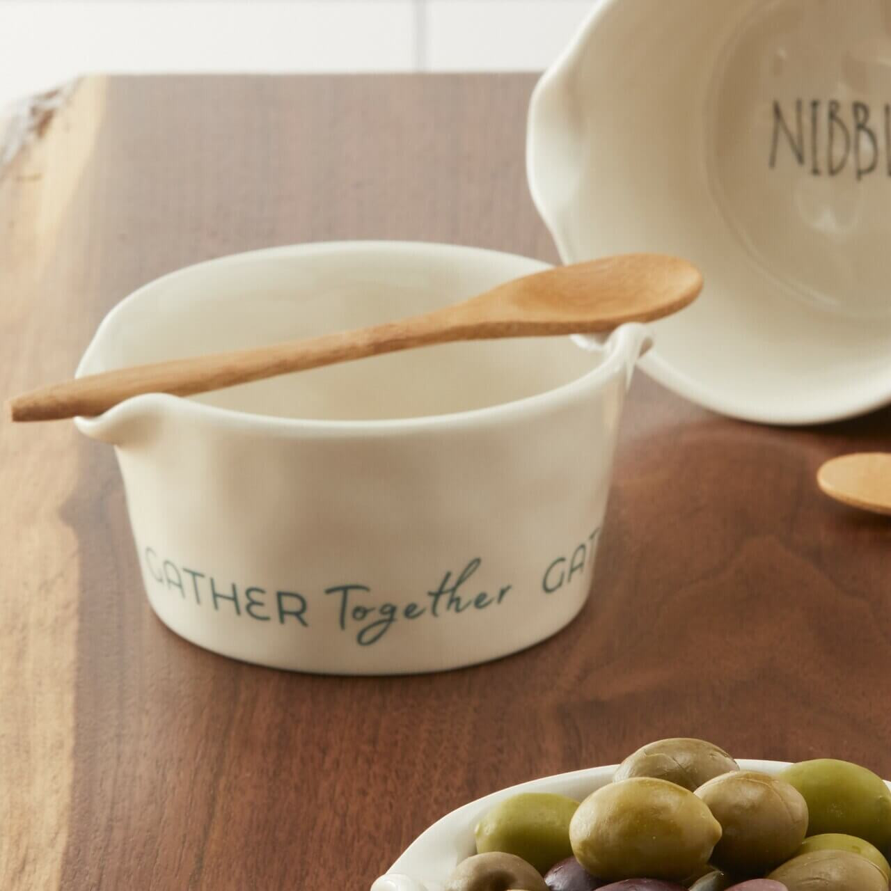 Gather Together Appetizer Bowl with Spoon