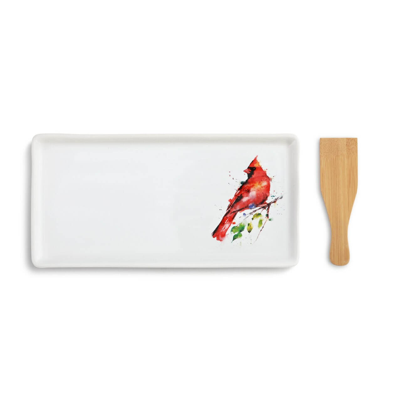 Spring Cardinal Appetizer Tray with Spatula