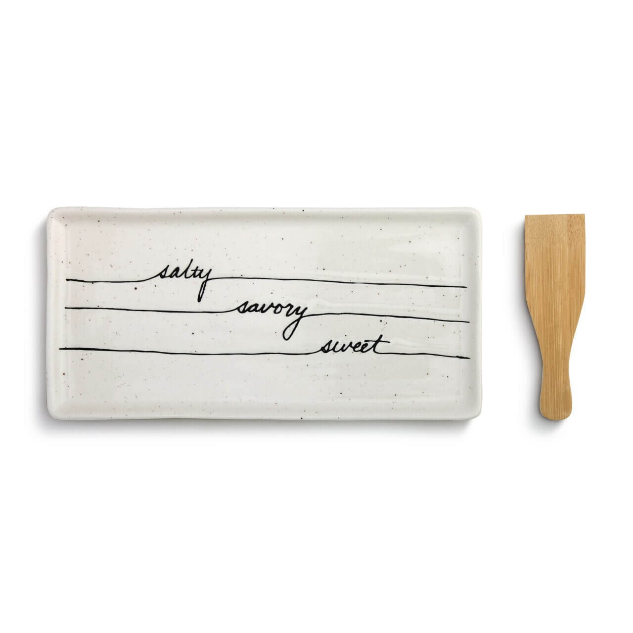 Salty, Savory, Sweet Appetizer Tray with Spatula