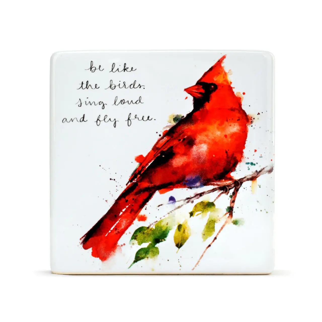 Spring Cardinal Plaque
