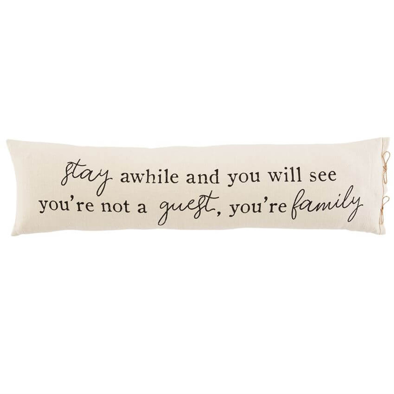Stay Awhile Guest Pillow