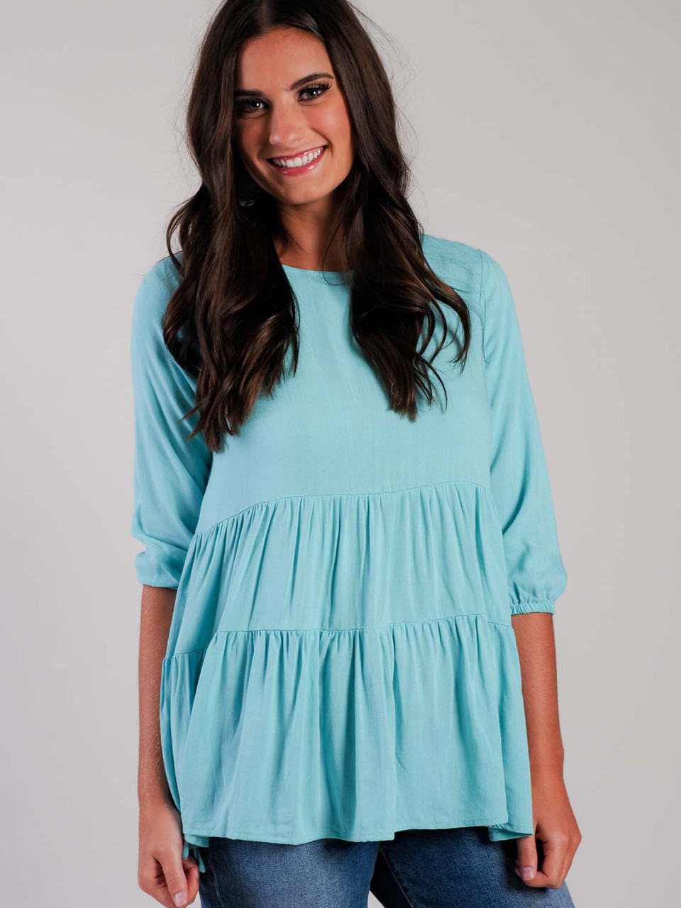 Mint Tiered Top