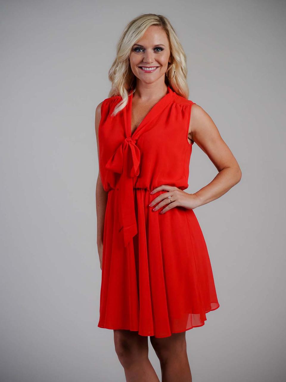 red coral sheer swing dress molly bracken