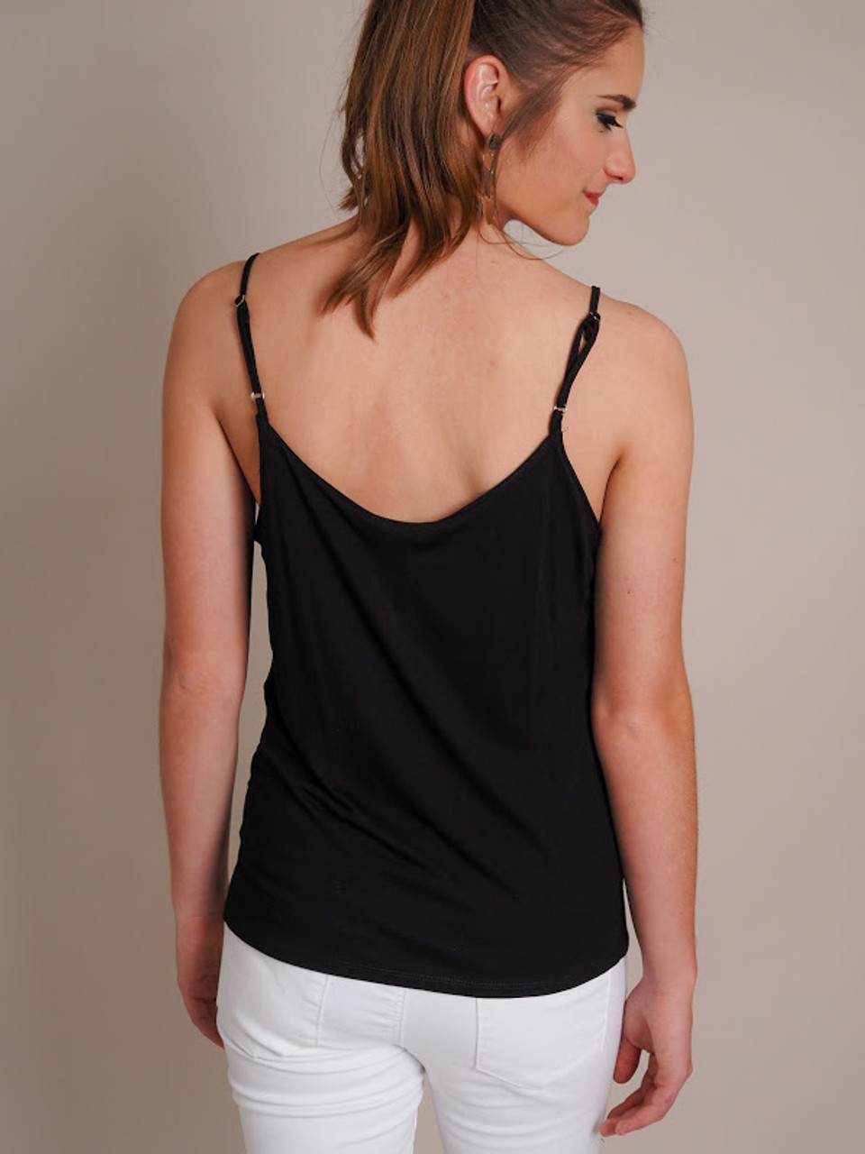 Basic Tank Top with Gathered Front Knot