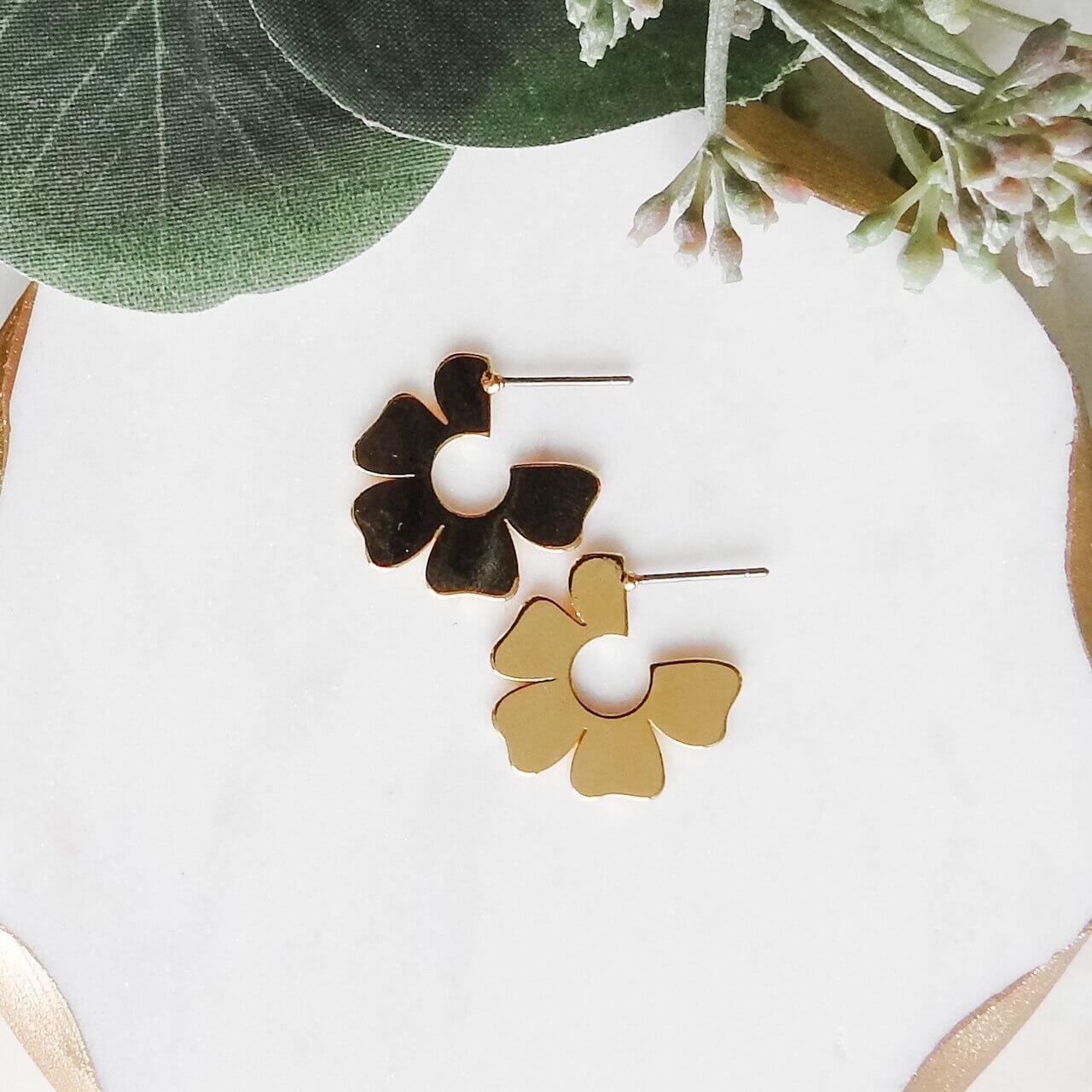 Flower Small Hoop Earring
