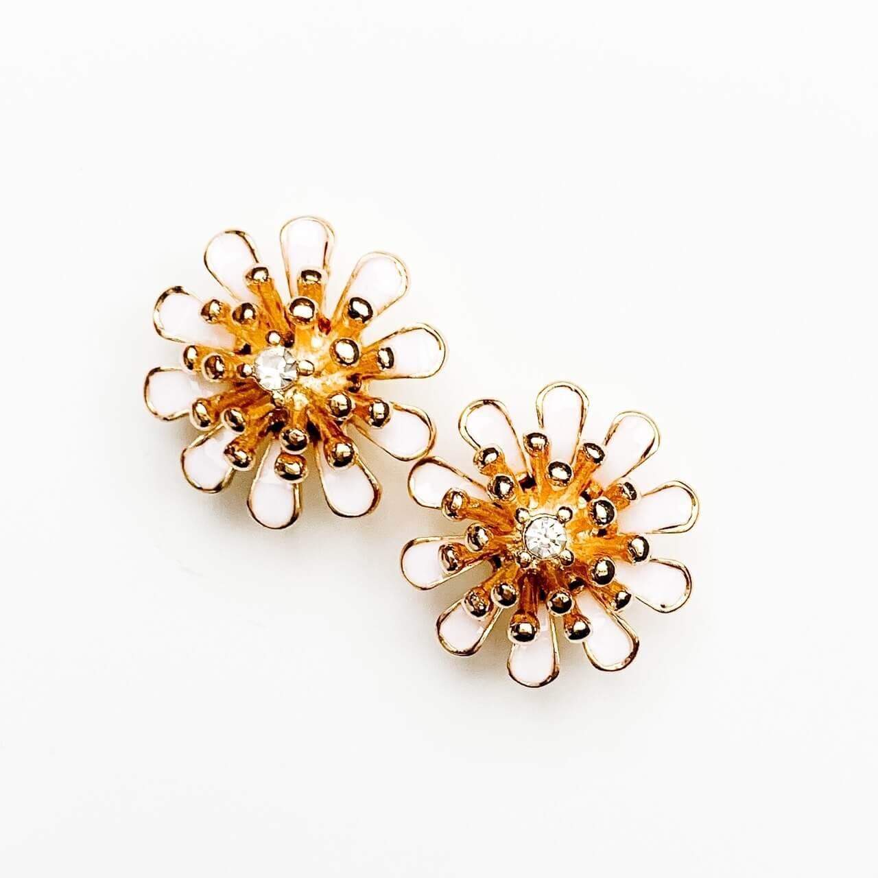 Gold Flower Post Earring
