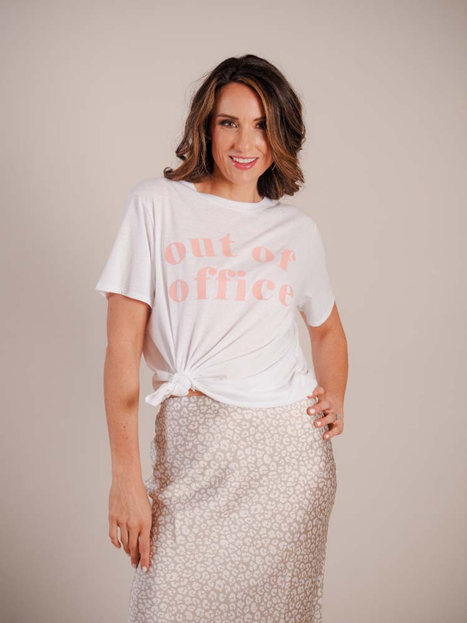 mudpie graphic tee out of office