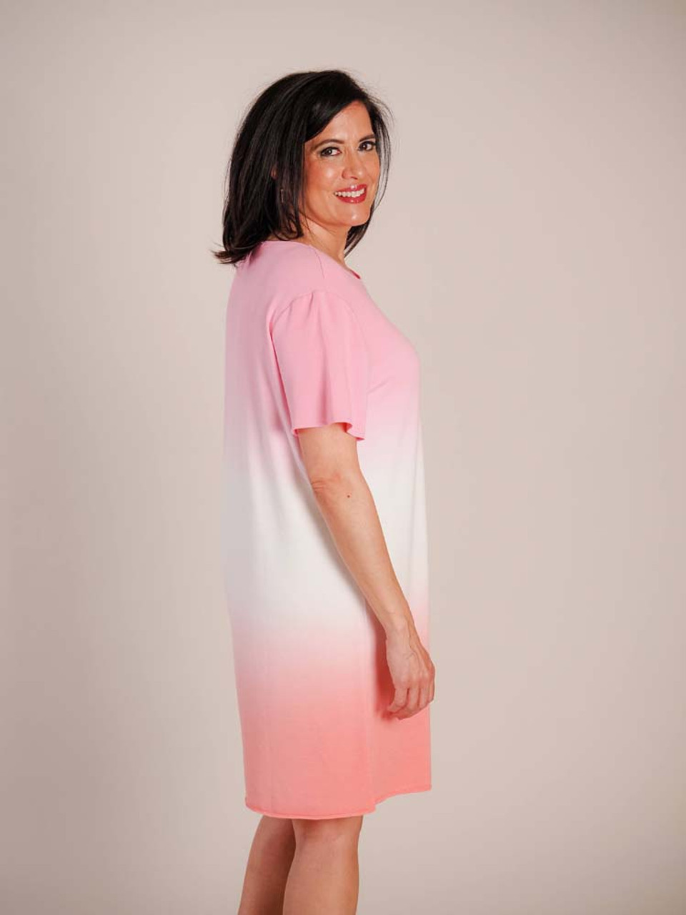 mudpie pink ombre t-shirt dress