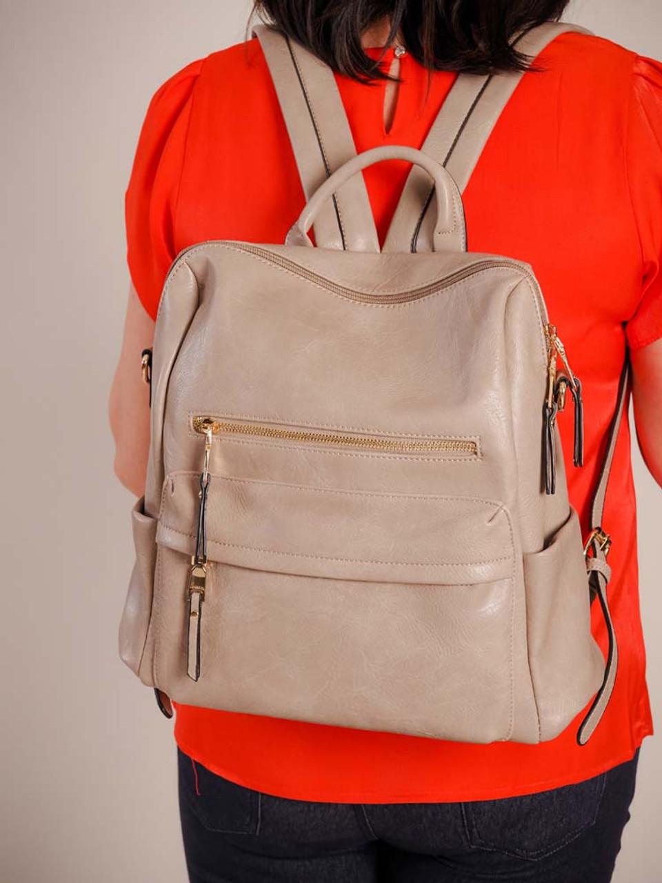 Amelia Backpack in Warm Grey