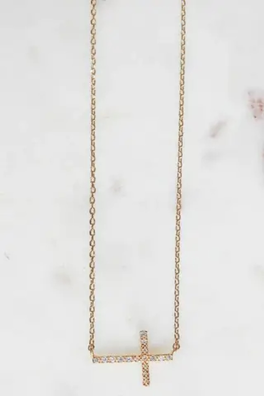 """So much sparkle from the chain and CZ pendant on this delicate little necklace! Nickel and lead free. Lobsterclaw clasp on adjustable chain from 17"""" to 18"""" including 5/8"""" pendant."""