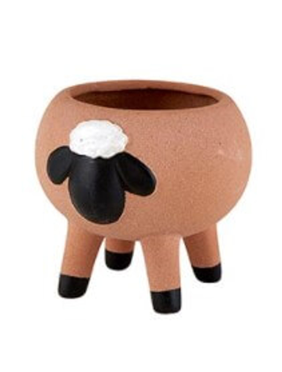 """This adorable ceramic planter features a unique animal design. Great for adding stylish touch to your home and office décor. 2 7/8"""" x 2 7/8"""""""