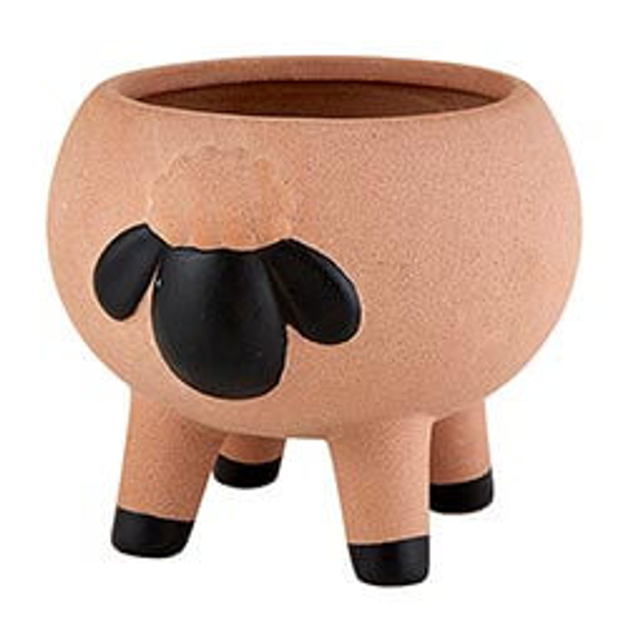 """This adorable ceramic planter features a unique animal design. Great for adding stylish touch to your home and office décor. 3 1/2"""" H x 3 5/8"""" W"""