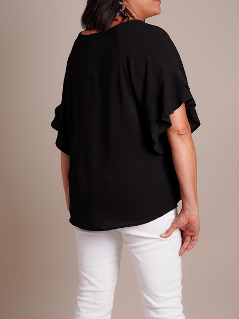 Layered Ruffle Sleeve Blouse
