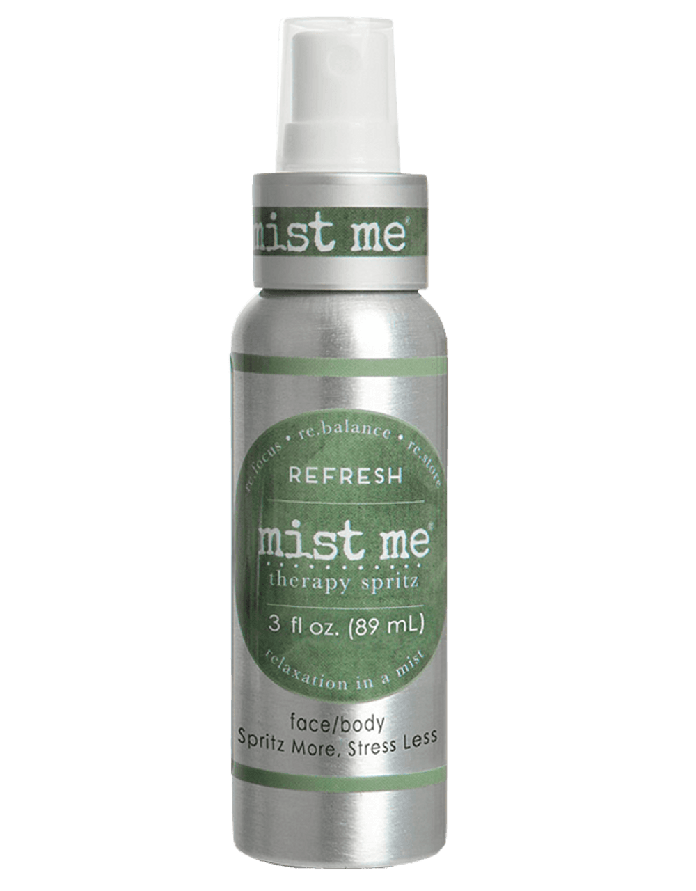 Rejuvenate and bask in the calmness of our soothing cucumber mint blend. It's the perfect way to REFRESH and replenish.  At the first sign of stress simply spritz your face or body with Mist Me Therapy Spritz and allow the calming to begin. This gently scented spritz promises to relax, clear your mind, and soften the rough edges of your day. A quick mist soothes your skin as well as your soul.