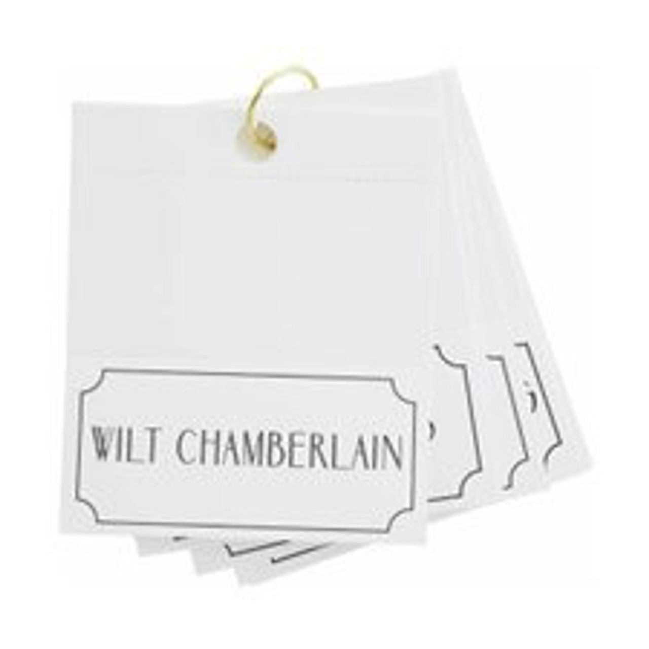 """Bring some laughs and a championship feeling to your next dinner party with a set of male athlete place cards. Folded cards measure 2 3/8"""" H x 4 3/4"""" W.  This set of 24 cards features some of the most recognized male athlete names including: Wilt Chamberlain, Magic Johnson, John Elway, Roger Federer, Bo Jackson, LeBron James, Michael Jordan, Dale Earnhardt, Tiger Woods, Shaquille O'Neal, Steph Curry, Sandy Koufax, Pele', Tom Brady, Aaron Rodgers, Kyrie Irving, Stan Musial, Byrce Harper, Babe Ruth, Lance Armstrong, Wayne Gretzky, Michael Phelps, Muhammad Ali, Carl Lewis"""
