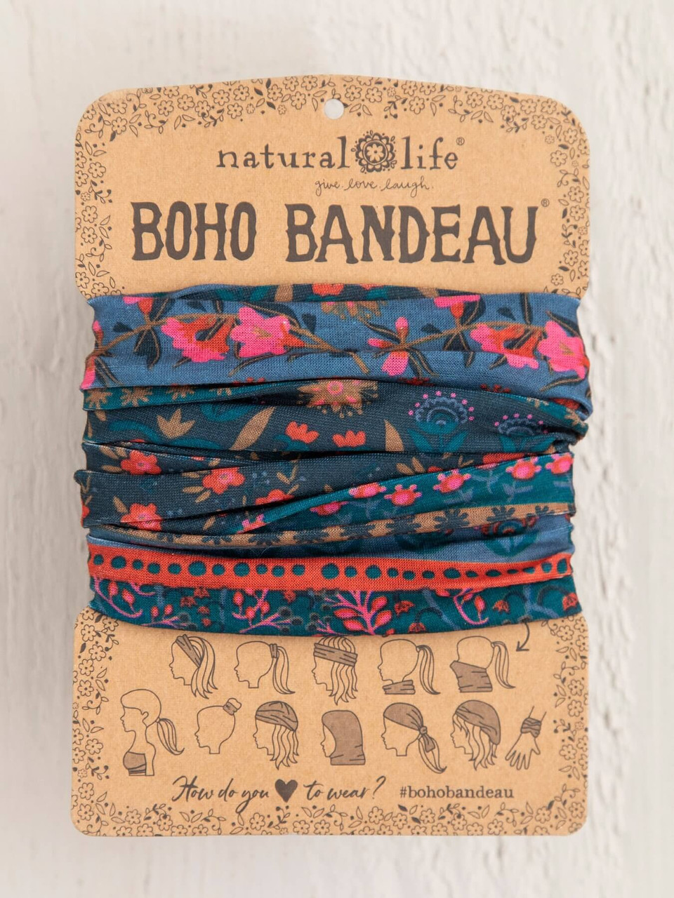 Midnight Floral Boho Bandeau
