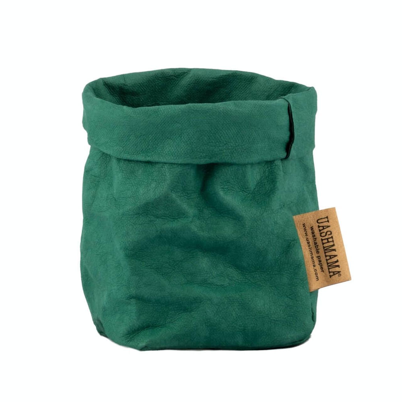 UASHMAMA piccolo organic paper bags smeraldo