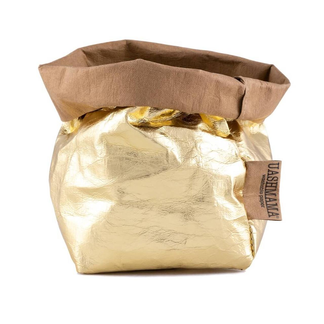 UASHMAMA small organic paper bags metallo