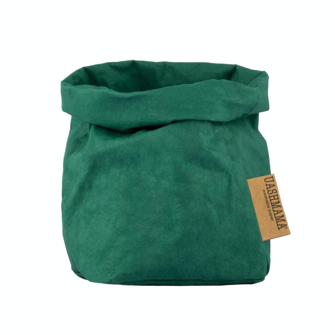UASHMAMA small organic paper bags smeraldo
