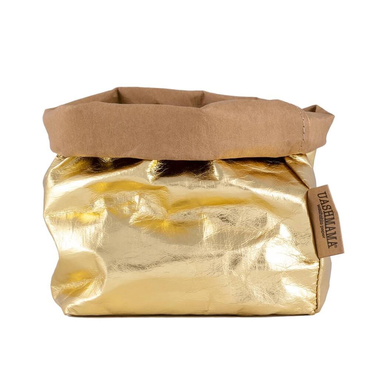 UASHMAMA medium organic paper bags metallo