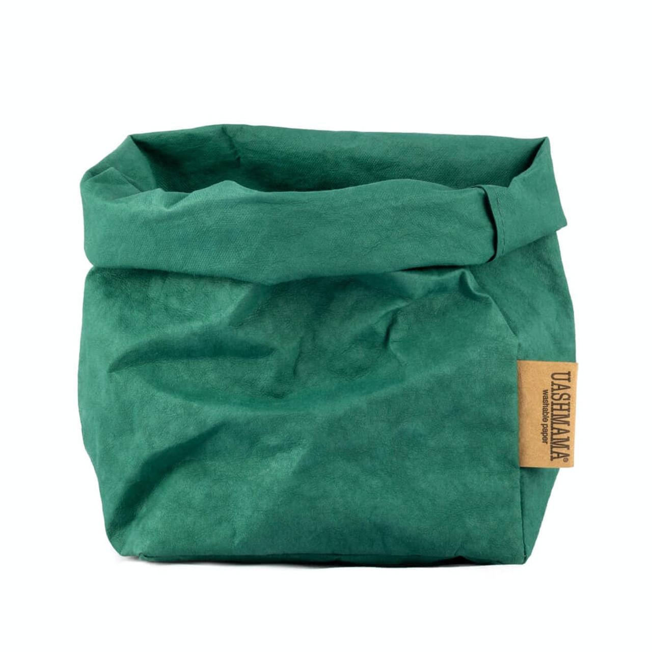 UASHMAMA medium organic paper bags smeraldo