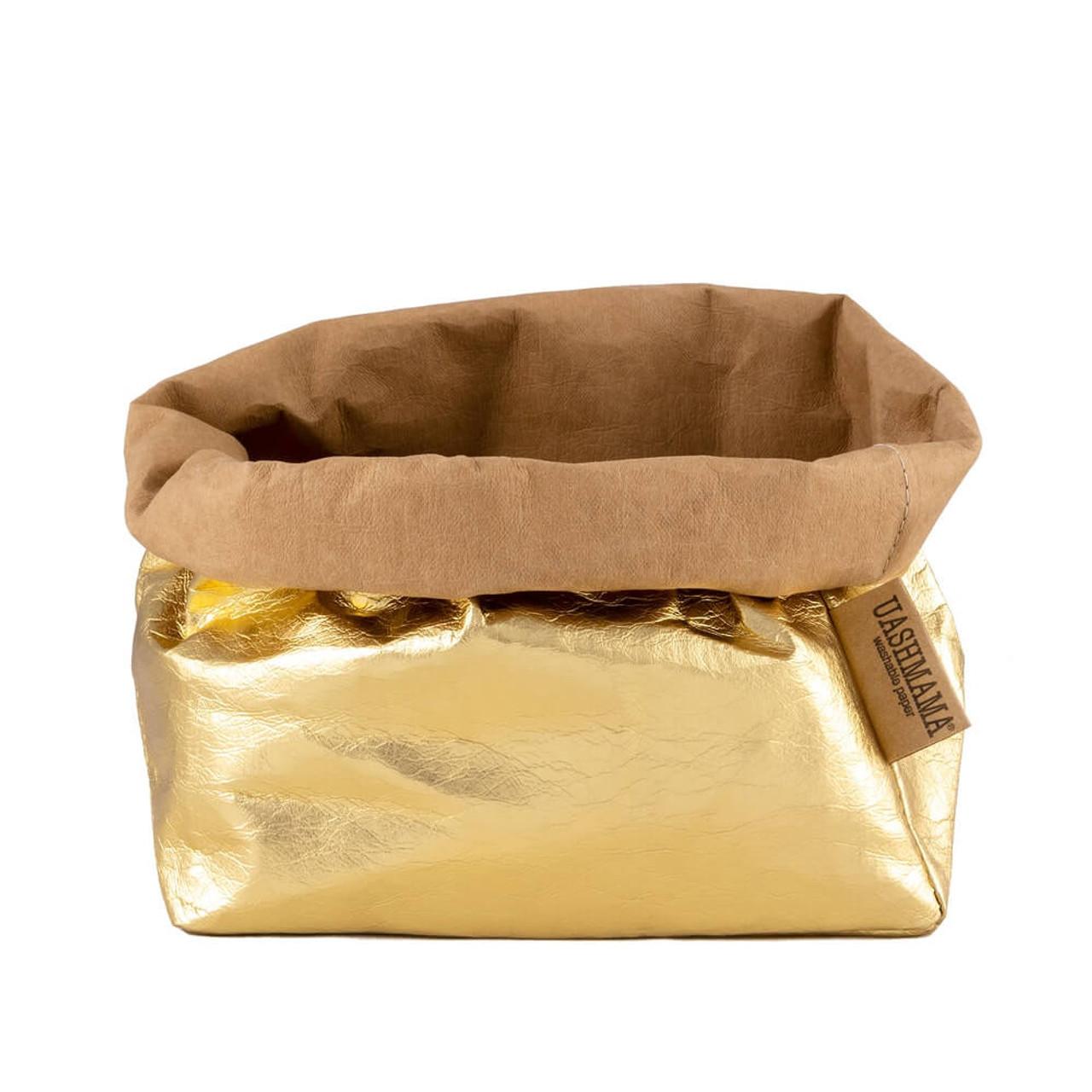 UASHMAMA large organic paper bags metallo