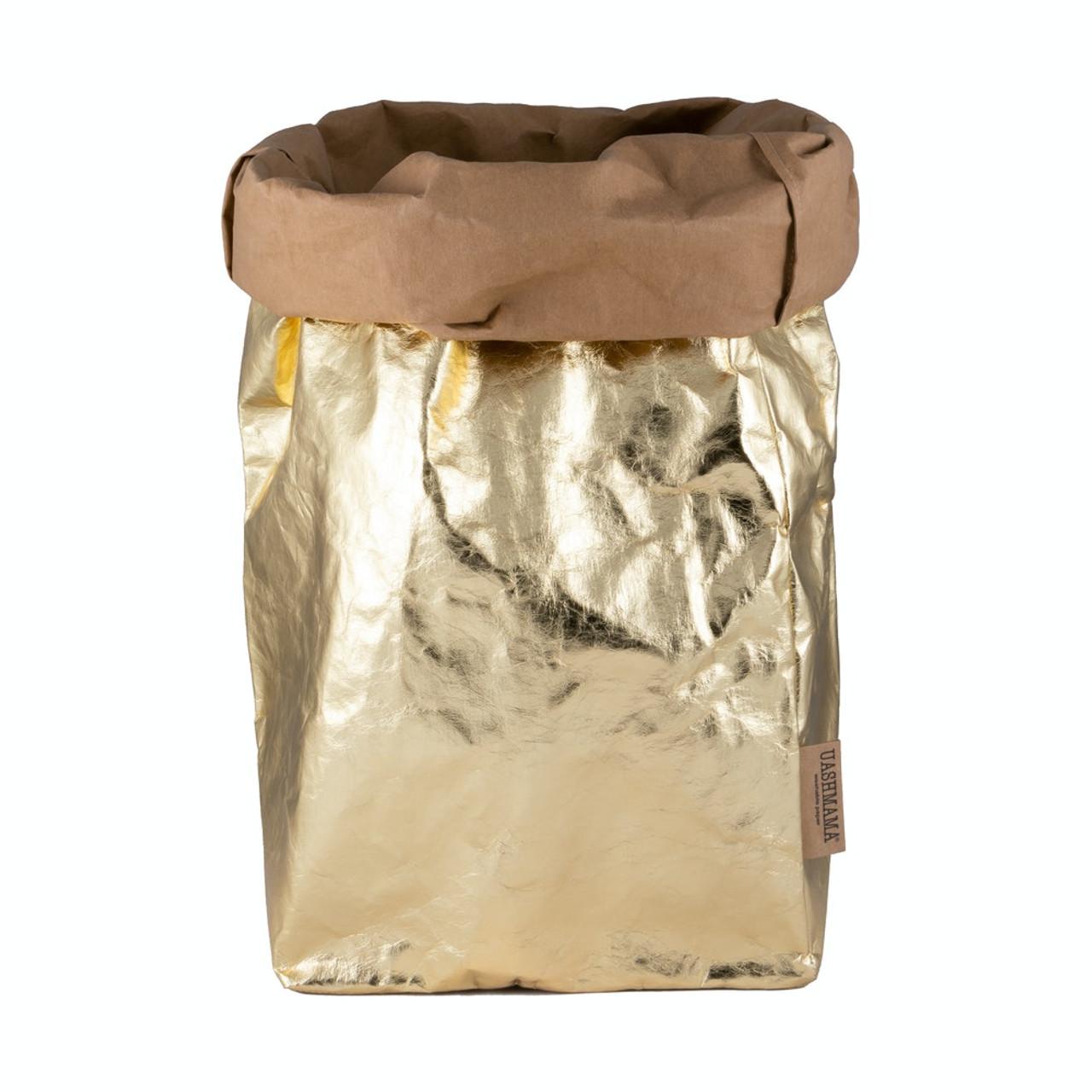 UASHMAMA xxl organic paper bags metallo avana gold
