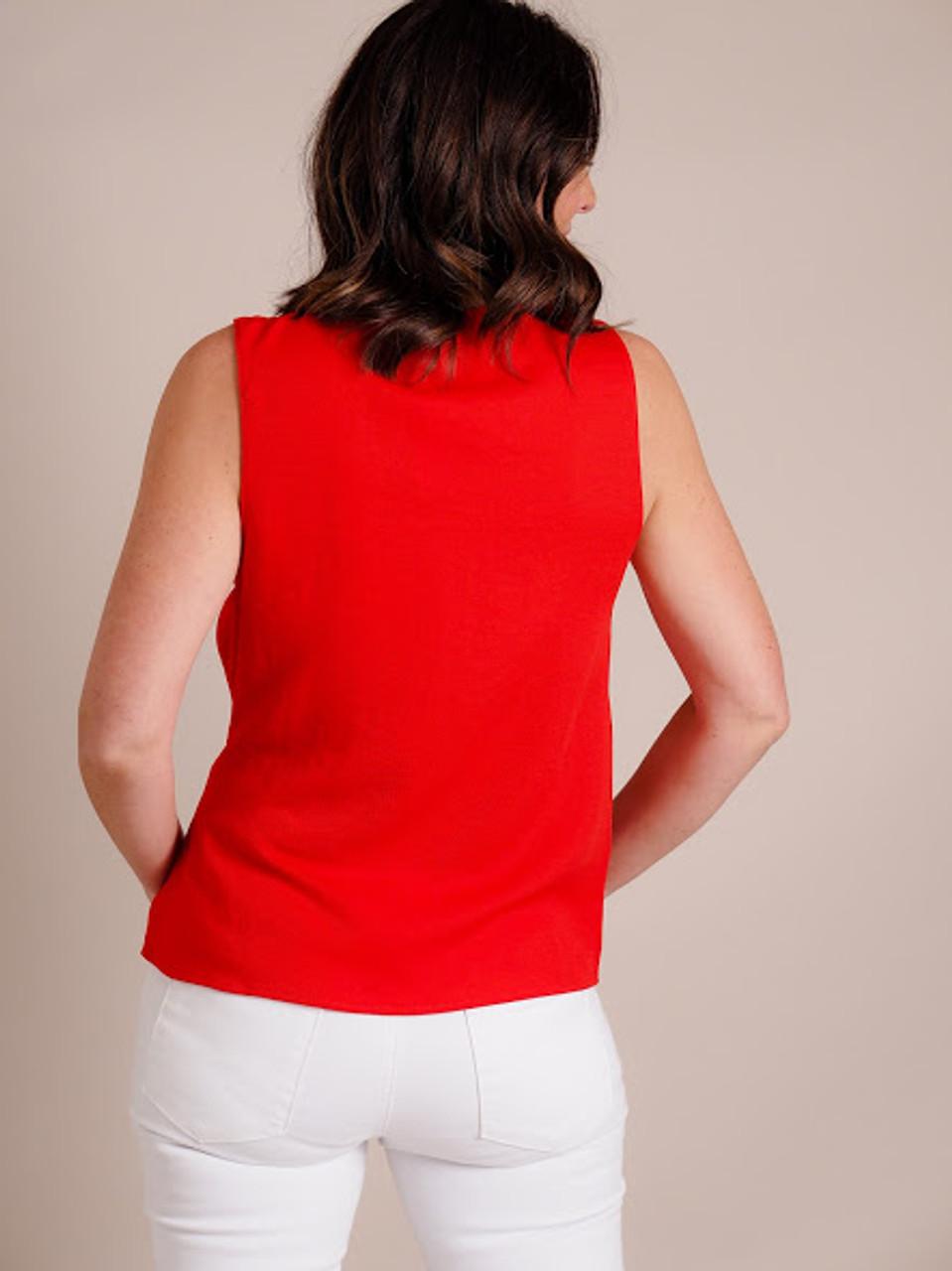 Red Sleeveless Top