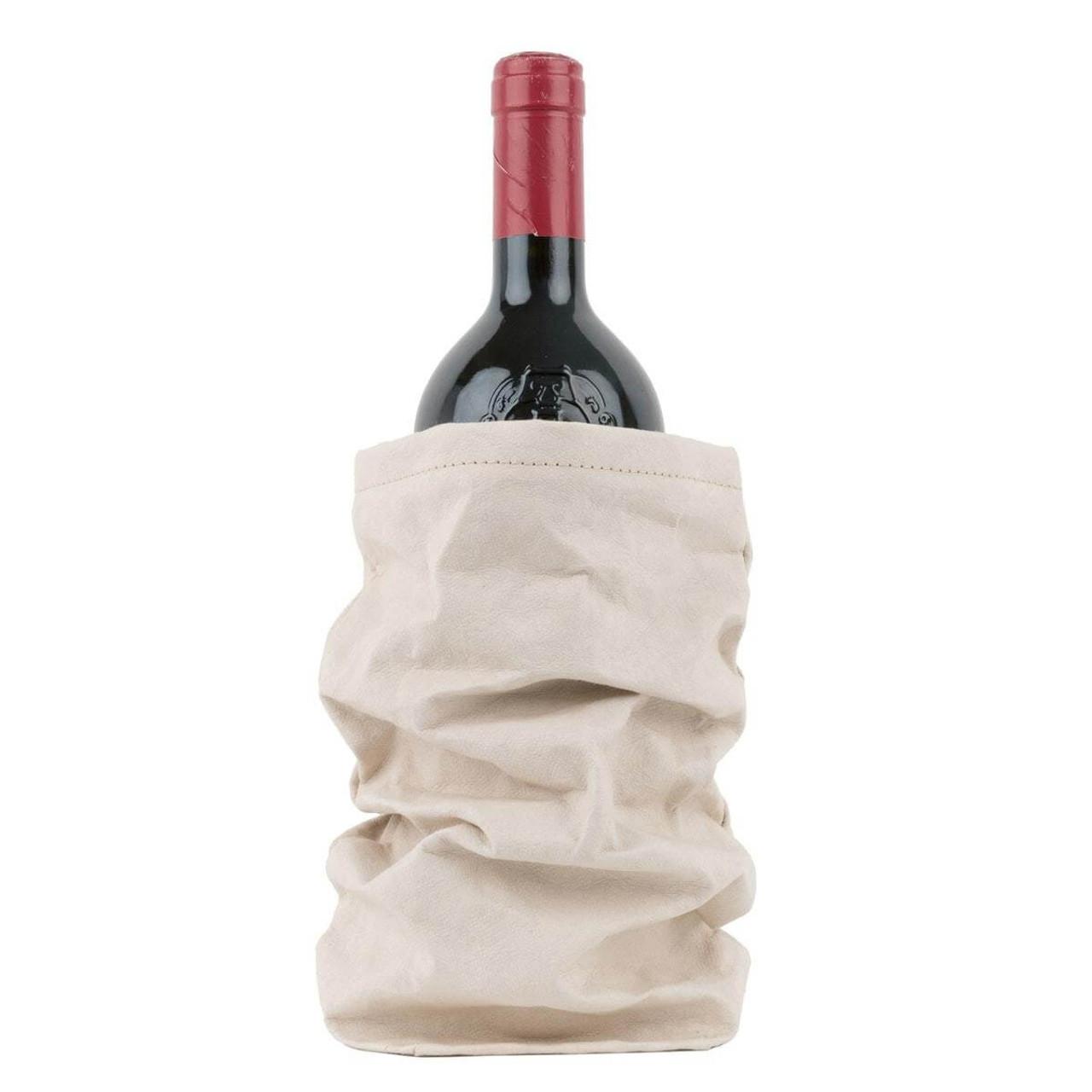 UASHMAMA organic paper wine bags white