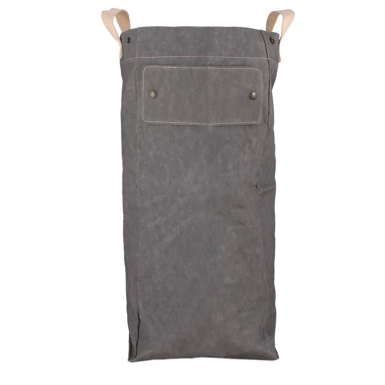 UASHMAMA organic paper bags laundry dark grey