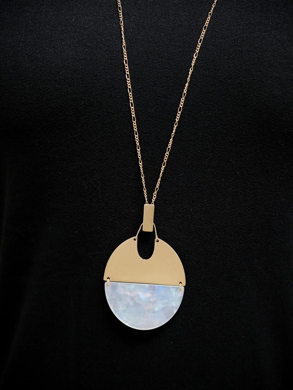 Julie Acrylic Oval Necklace