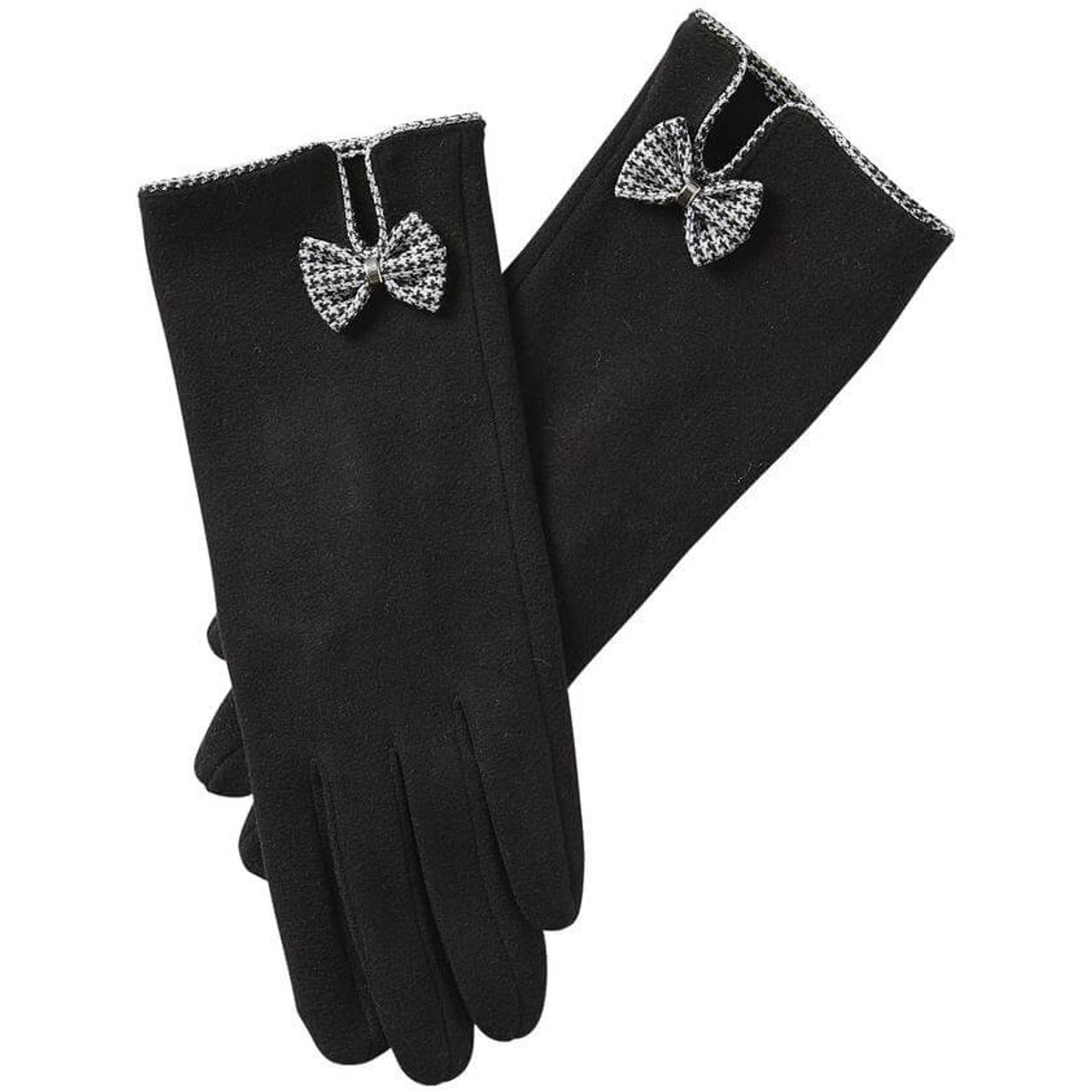 Isla bow gloves in black Dress up with the Isla Bow Glove. The tiny bow is the perfect addition while still looking chic and sophisticated.