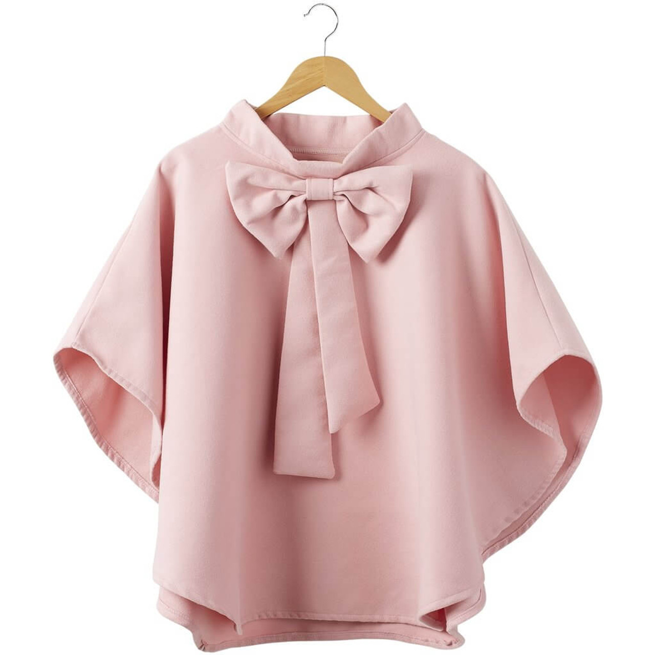 """Pink Elsa Bow Cape Rounded edges and an oversized bow make this cape an absolute beauty that will elevate any outfit in an instant. Approx 29.5"""" long; one size fits most."""