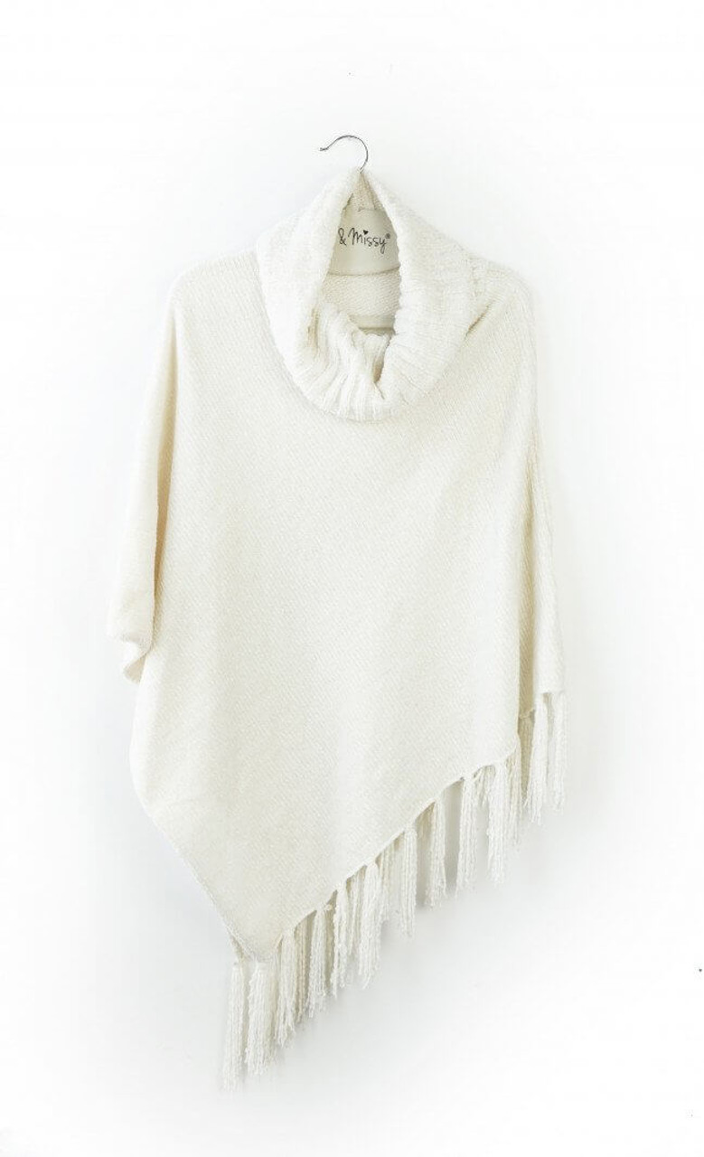 The Beyond Soft chenille poncho features a cozy cowl neck design and knotted fringe detailing. Layer this classic cardigan alternative over anything from camisoles to long sleeves for a uniquely warm look that flatters every shape. One size fits most.