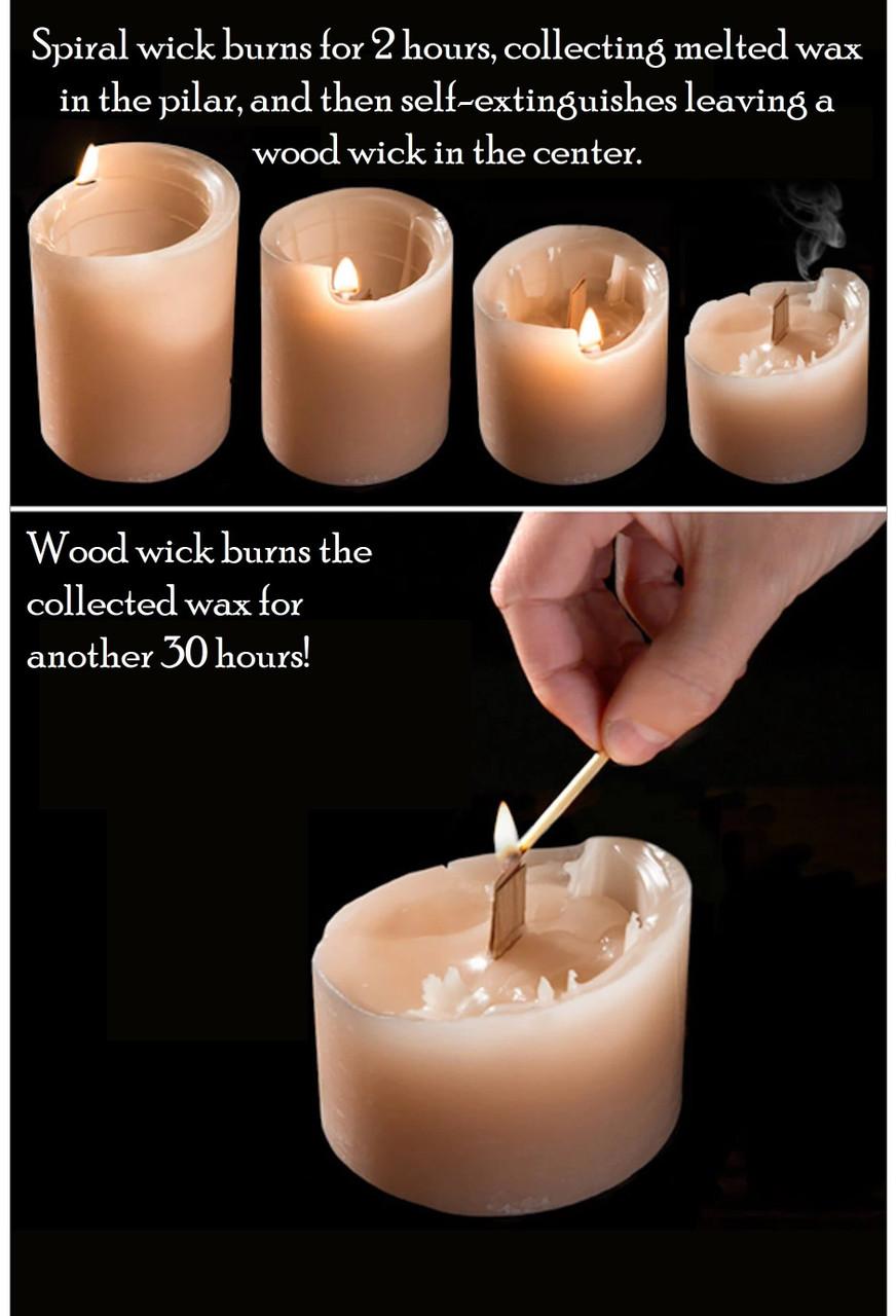 Smokey Tonka Bean Spiral Candle Medium