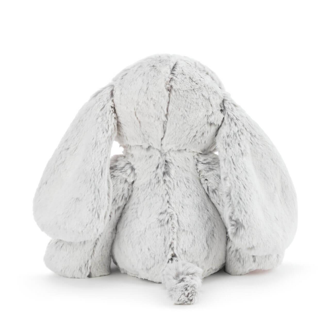 Demdaco Eliza gray pink luxurious plush elephant